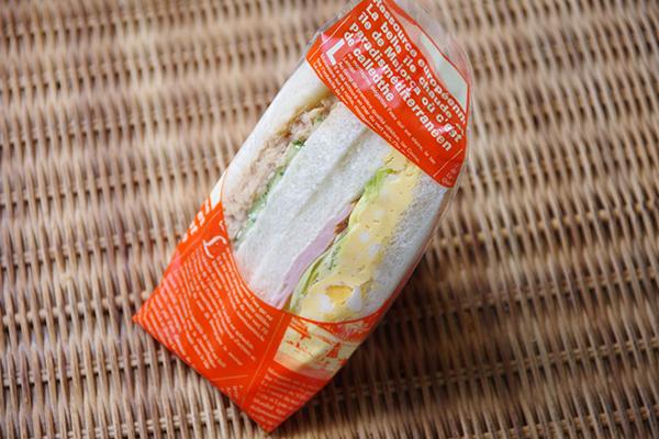 バンバンジーとハム卵サンドイッチ